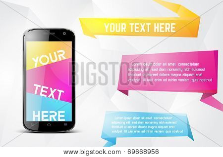 Infographics desgin template with smartphone