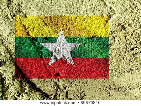 an images of illustration Union of Myanmar or Burma flag