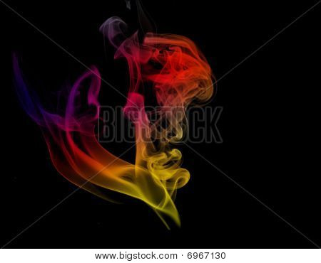 Gradient Light Colored Smoke
