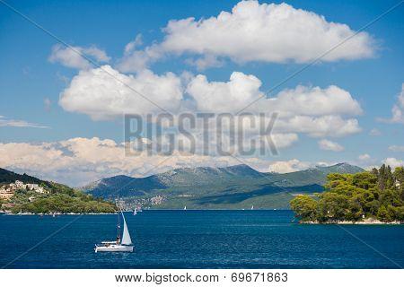 Nidri on Lefkada island Greece