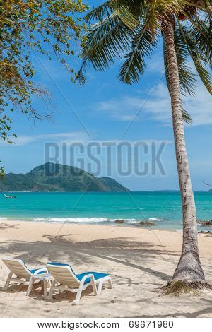 Paradisiac beach of Laem Ka, Koh Phuket  in Thailand