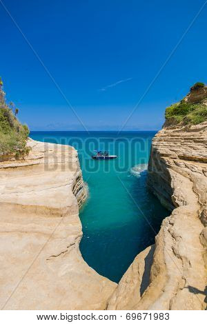 Sidari Canal d'amour Corfu island in Greece