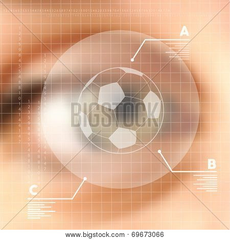 Virtual Screen Human Eye Soccer Concept