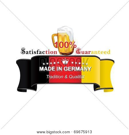 German Beer label with flag the of Germany