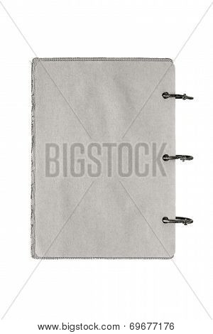 Isolated Notebook With Pages Gray Color