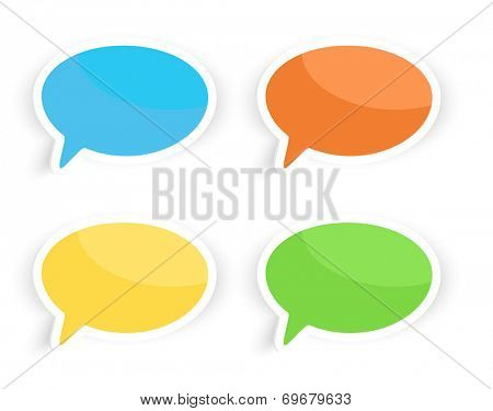Colorful speech text bubbles illustration