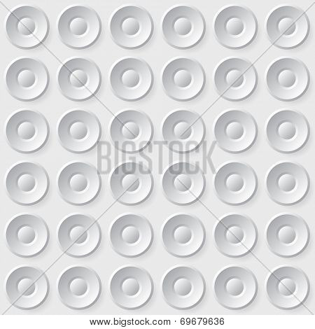 Seamless circle buttons background pattern
