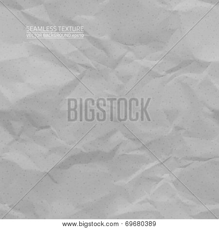 Creased Grey Paper Vector Seamless Texture