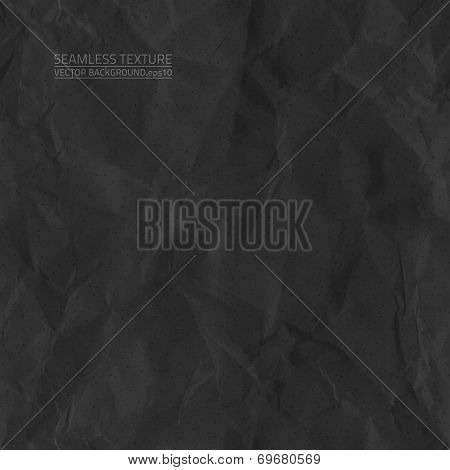 Creased Black Paper Vector Seamless Texture