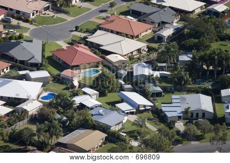 Aerial Of Housing