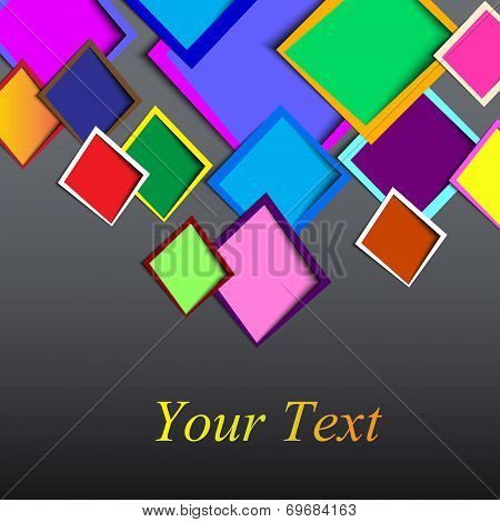 abstract Rounded rectange text boxes with colorful background design