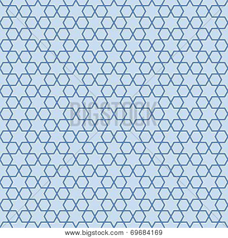 Seamless blue stars background pattern