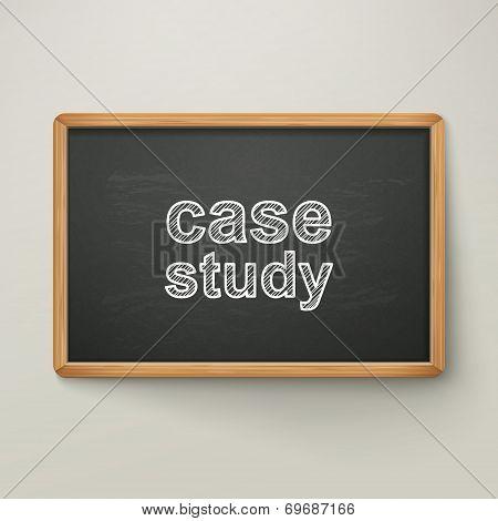 Case Study On Blackboard In Wooden