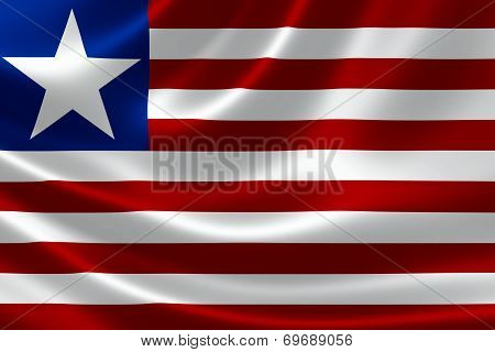 Republic Of Liberia's National Flag