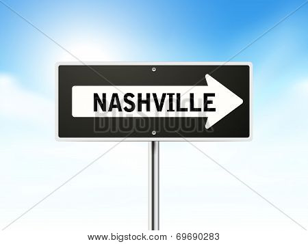 Nashville On Black Road Sign