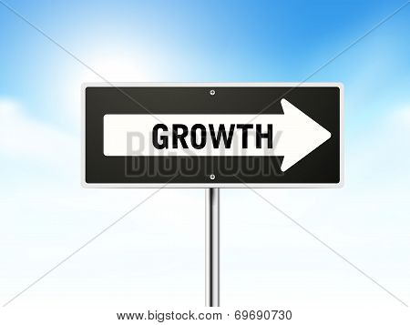 Growth On Black Road Sign