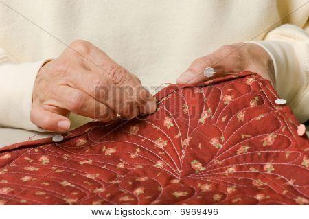 Hand Binding A Quilt.