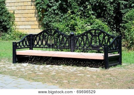 Large Bench In The Park.