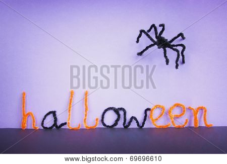 Halloween Toy Spider, Pipe Cleaners.