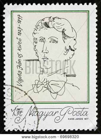 Postage Stamp Hungary 1977 Janos Vajda, Poet