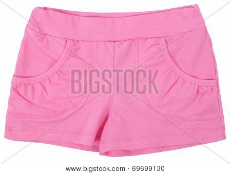 Woman's Sports Shorts. Isolated On White