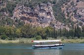 pic of dalyan  - Kaunian rock tombs in Dalyan - JPG