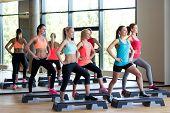 pic of step aerobics  - fitness - JPG