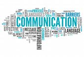 stock photo of communication  - Word Cloud Image Graphic with Communication related tags - JPG
