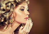 foto of hand kiss  - Fashion Girl Portrait - JPG