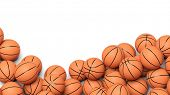 picture of basketball  - Basketball balls isolated on white background  - JPG