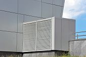 stock photo of ventilator  - Industrial steel air conditioning and ventilation systems - JPG