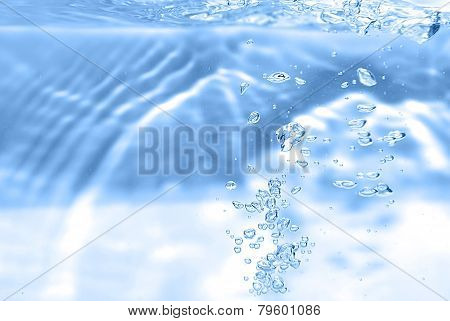 Bubbles In A Water