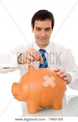 Businessman Resuming Savings