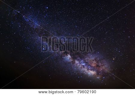 Milky Way. Long exposure photograph.