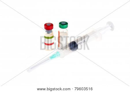 Two Vial And Syringe