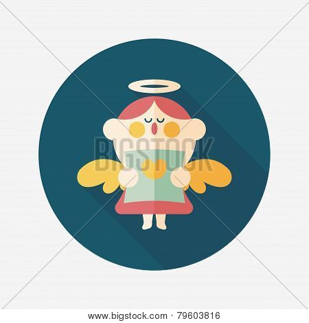Wedding Angel Choir Flat Icon With Long Shadow,eps10