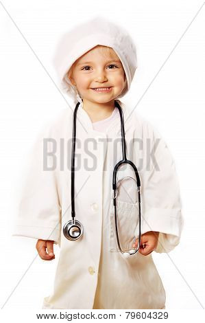 Beautiful Girl Playing Doctor