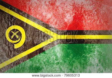 Grunge Vanuatu Flag.