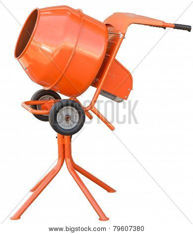 Small Orange Concrete Mixer Machine