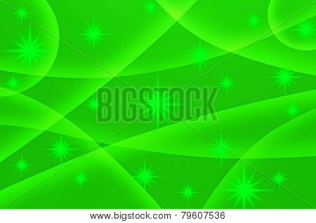 Abstract Star With Green Background