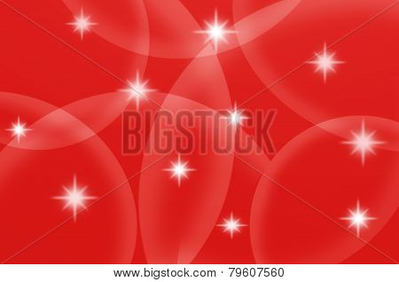 Star Light With Red Background