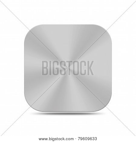 Metal Silver Button Icon Texture