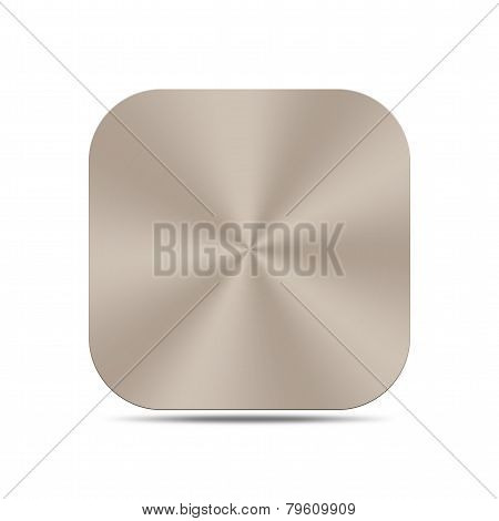 Titanium Metal Button Isolated