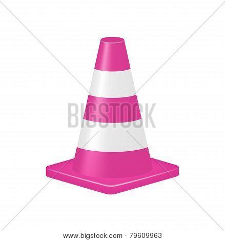 Pink traffic cone