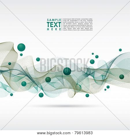 Abstract Colorful Template Vector Background.