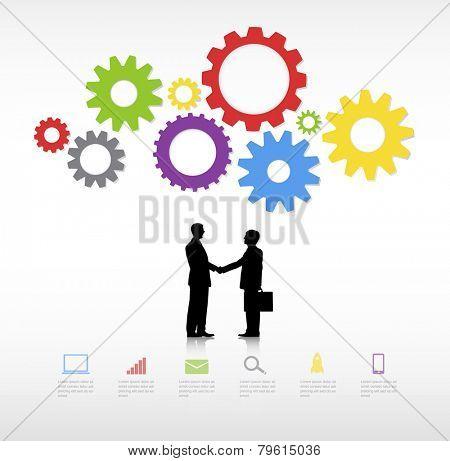 Business People having handshake