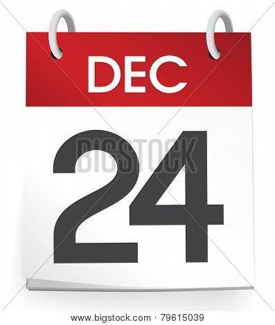 December 24th Calendar Vector
