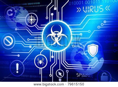 Internet network with virus vector