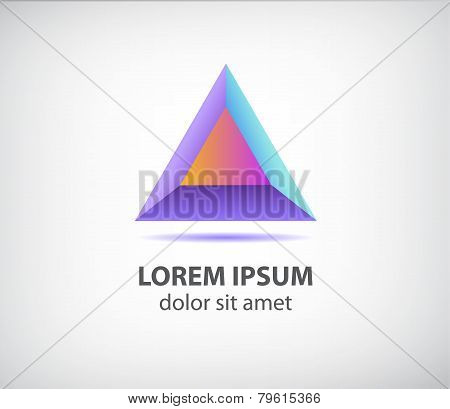 vector abstract 3d colorful modern triangle logo