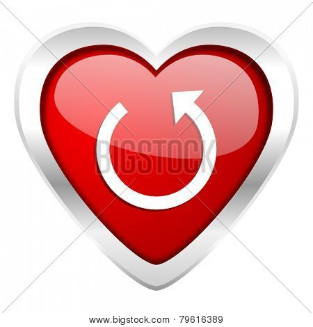 rotate valentine icon reload sign